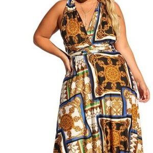 Beautiful Maxi wrap dress can be worn many ways!